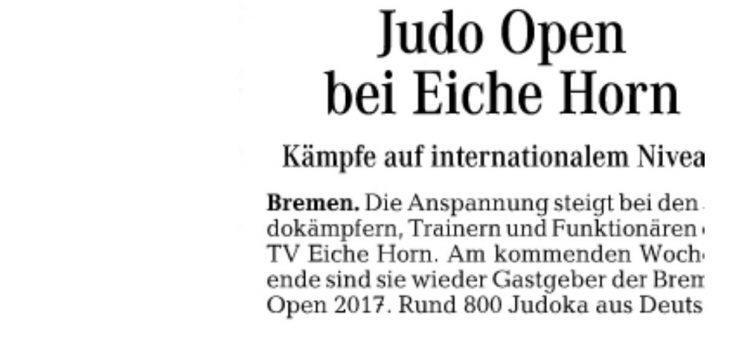 Judo Open bei Eiche Horn ( Weser-Kurier )
