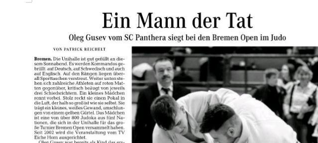 Ein Mann der Tat ( Weser-Kurier )
