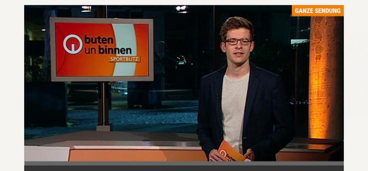 Beitrag über Sean im Fernsehen bei Buten un Binnen – Sportblitz
