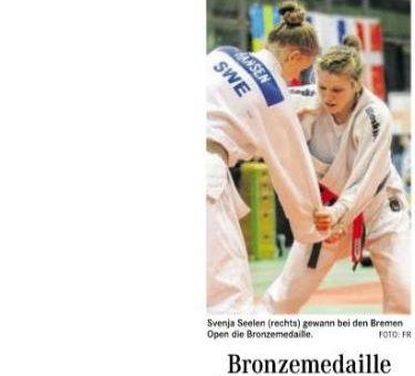 Bronzemedaille für Svenja Seelen ( Weser-Kurier )