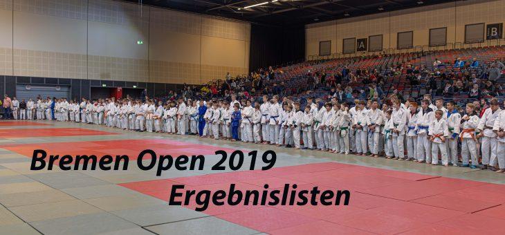 BREMEN OPEN 2019 / ERGEBNISLISTEN