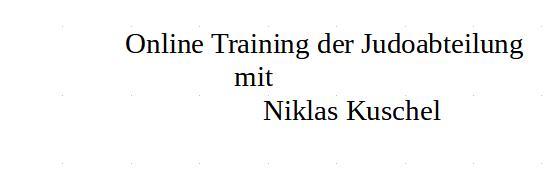 Online Training der Judoabteilung