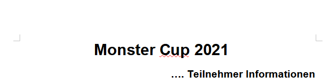 Monster Cup 2021
